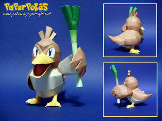 Farfetch'd Papercraft by Skeleman