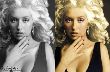 Colorization, X-tina Aguilera by ByRoderico