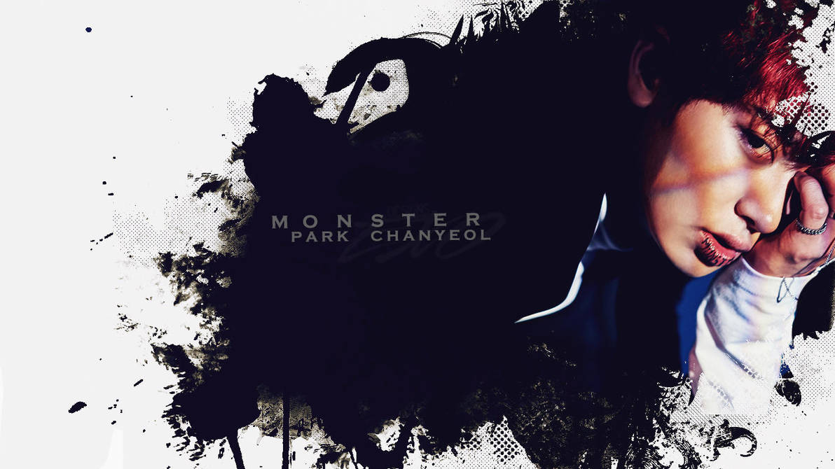 Wallpaper Chanyeol Monster Comeback Exo By Exoeditions On Deviantart