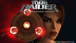 Tomb Raider Anniversary edition: main menu by doppeL-zgz