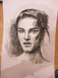 Ink wash portrait by MaxyChi