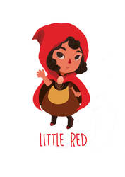 Cute Little Red Riding Hood by MaxyChi