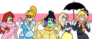 Marvel Princesses 2 by alienhominid2000