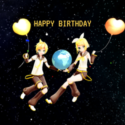 Kagamine Twins' 10th Anniversary by Minnemi
