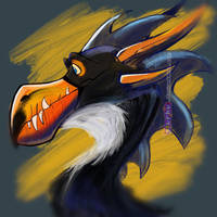.:Toucan Dragon:. -Smaugust Fourteen- by Slurku