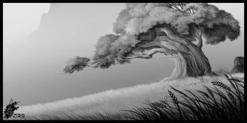 Lonley Tree - Layout by davidkawena