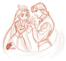 TANGLED - Rapunzel + Flynn 01 by davidkawena