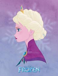 Disney's FROZEN - Queen Elsa by David Kawena by davidkawena