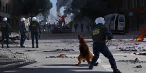 Street Riot by maykrender