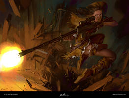 Sheriff of Piltover / LoL by maykrender