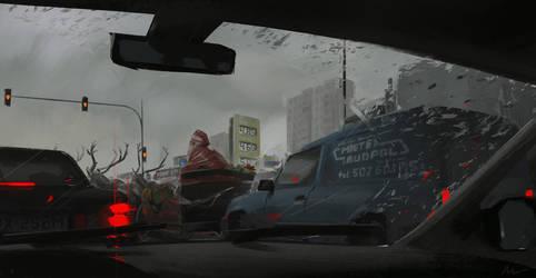 Santa already in Poland by maykrender