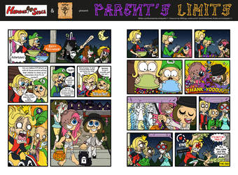 Halloween Comic Strip 2018 - Parent's Limits by mickeyelric11