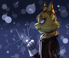 Electric cat by lizathehedgehog
