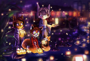 Japanese night of lights by lizathehedgehog