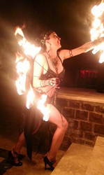 Transylvania fire show by aliceinflames
