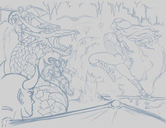 Wonder Woman Rough BG v2 by MadMexicanMike