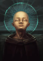 A Young Monk by Daria-Ts