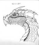 TOP 3 WINNER - Inktober 11th - Dragon by ItoeKobayashi