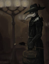 Plague Doctor is coming. by KevinYann