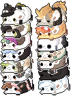 #5 tsum tsum bagbean icons by Bunaberry