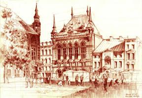 Dwor Artusa w Toruniu. Artus Court in Torun. by KrystianWozniak