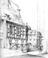 Gdansk House sketch by KrystianWozniak