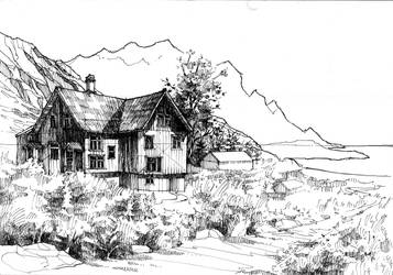 Skrova seaside house by KrystianWozniak