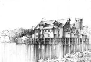 Skrova - Harbour reflection by KrystianWozniak