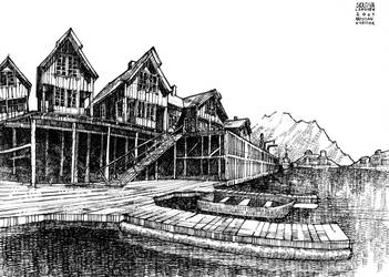 Lofoten - Local architecture, Skrova by KrystianWozniak