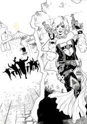 Ilustracion Festival de comic de Ubeda y Baeza B/N by AdryLavi