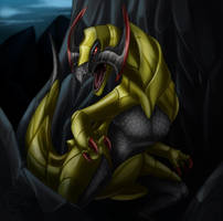 Day 126: Haxorus by Jadenyte