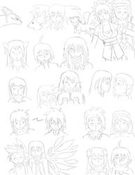 Tales of Symphonia Doodles by nephry