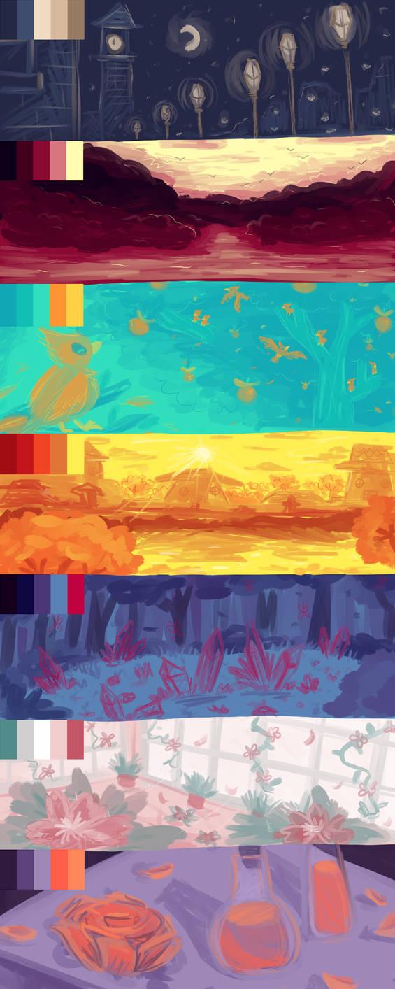 Color Palette Practice by Giniqua