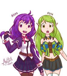 Base Aisha and Rena V2 by Giniqua