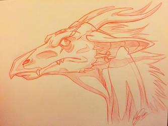Dragon Headshot Commission  by ArtistMaz