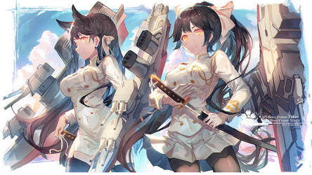 Takao and Atago by 0bakasan