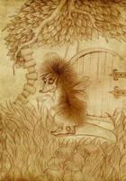 Strange Hedgehog fairy by Gueule-de-Loup