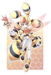 Medabots Meda Queen Bee FC by PixiTales