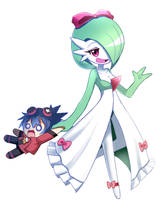Pokemon Gardevoir with Trainer Katsumi OC by PixiTales