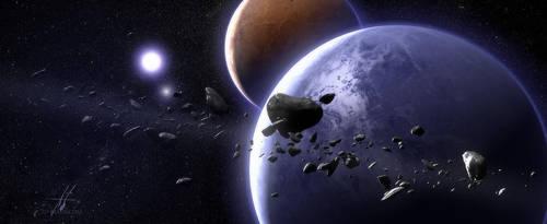 Pre-Animation Space Scene by Grimdar