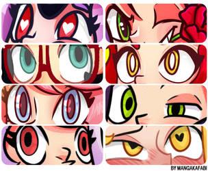 Eyes - cartoon by Mangakafabi