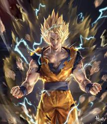 Dragonball Goku by atomiiii