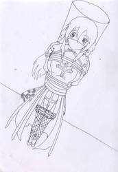 Little Trouble : Lineart by yasumeyukito