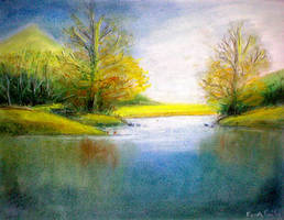 Landscape in Pastels by arch-nsha