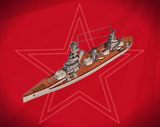 Demokratia battleship by Dilandu