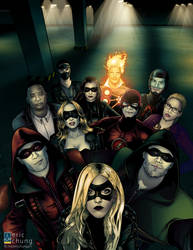 Justice League Selfie by DemonX01