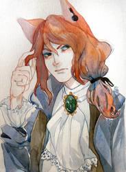 Art Trade with Megu by MilkyWay-Moe