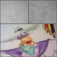 Free Hand art DarkWing Duck by RicCasino
