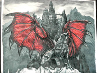 Vampiric Werewolf by FreedomSparrow3