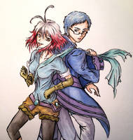 [ART TRADE] Pascal and Hubert (Tales of Graces) by May-May-Meow